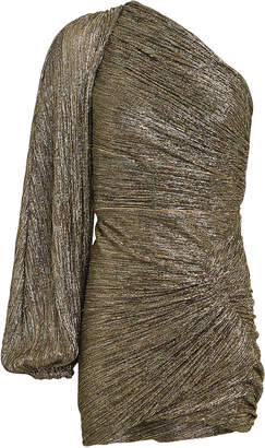 Peter Pilotto One-Shoulder Metallic Mini Dress
