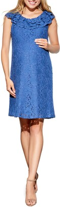 Maternal America Ruffled Maternity Dress