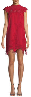 Saylor Frances Floral Fringe Mini Dress