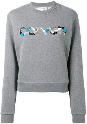 Carven sequin logo sweatshirt