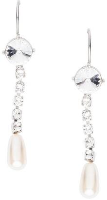Miu Miu crystal drop hook earrings