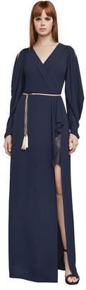 BCBGMAXAZRIA Koko Draped-Sleeve Gown