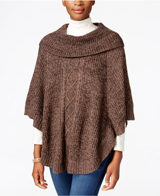Karen Scott Cable-Knit Cowl-Neck Poncho, Only at Macy's $49.50 thestylecure.com