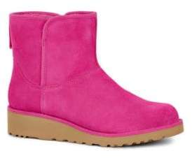 UGG Kristin Slim Short Sheepskin Wedge Boots