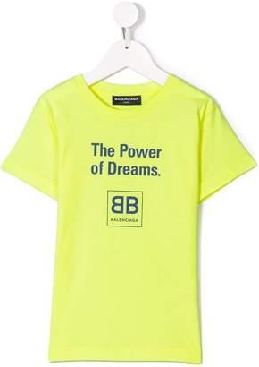Balenciaga Kids The Power Of Dreams T-shirt