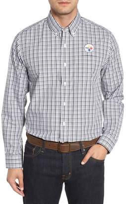 Cutter & Buck Pittsburgh Steelers - Gilman Regular Fit Plaid Sport Shirt