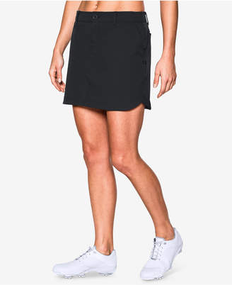 Under Armour Links Storm Water-Repellent Woven Golf Skort $74.99 thestylecure.com