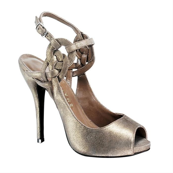 Metallic Suede Gracyn Heels by H Williams