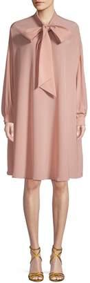 Valentino Self-Tie Silk Shift Dress
