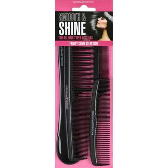 Models Prefer Smooth & Shine Family Comb Section 4 pack