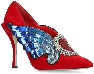 Dolce & Gabbana Lori Winged Heart Pumps 105