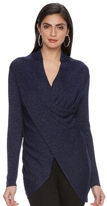 Women's Jennifer Lopez Twist-Front Sweater $58 thestylecure.com