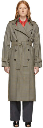 Rokh Beige Classic Double-Breasted Trench Coat
