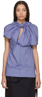 Marni Blue Twist Blouse