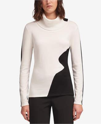 DKNY Wavy Colorblocked Sweater