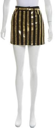 Michael Kors Sequin Denim Skirt