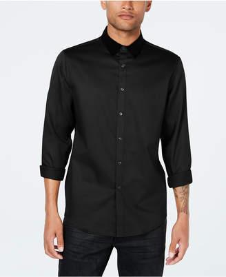 INC International Concepts Inc Men Velvet Collar Shirt