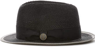 Cubavera Black Fedora with Grey Trim