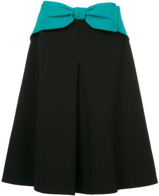 Mary Katrantzou bow front A-line skirt