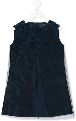 Oscar de la Renta Kids A-line floral party dress