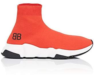 Balenciaga Men's Speed Knit Sneakers - Orange