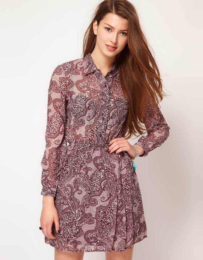 Motel Paisley Shirt Dress