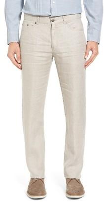 Women's Peter Millar Five Pocket Linen Pants $145 thestylecure.com