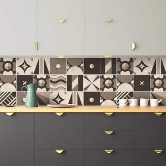 SirFace Graphics Tangram Geometric Tile Stickers Set Pack Of 24