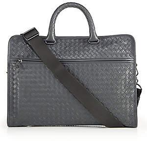 Bottega Veneta Men's Leggeron Intrecciato Leather Briefcase