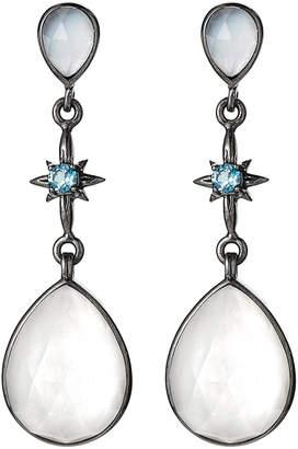 Stephen Dweck Moonstone & Topaz Drop Earrings