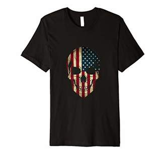 SLIM FIT Independence day July fourth forth skull american