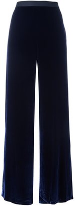 T By Alexander Wang velvet palazzo pants $449.73 thestylecure.com