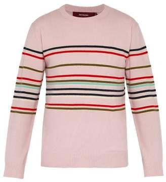Sies Marjan Vin Stripe Wool And Cashmere Blend Sweater - Mens - Pink Multi