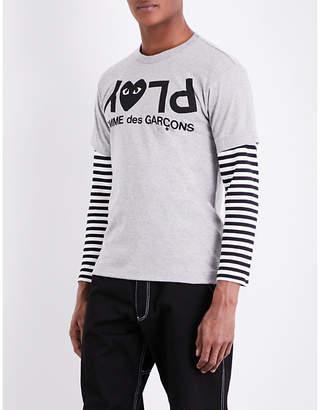 Comme des Garcons Reverse logo-print cotton-jersey T-shirt