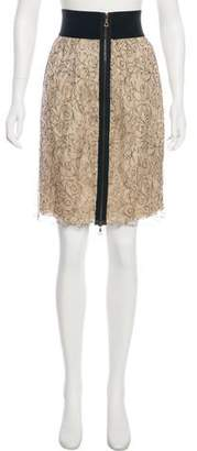 Yigal Azrouel Lace Knee-Length Skirt w/ Tags
