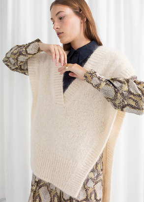 And other stories Plunging V-Cut Knit Vest