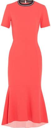 Rebecca Vallance Breakers Open-back Cloqué Midi Dress - Red