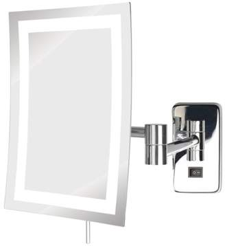 Jerdon JRT710CL 6.5-Inch by 9-Inch LED Lighted Wall Mount Rectangular Makeup Mirror