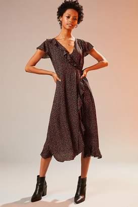Kimchi Blue Ruffle Midi Wrap Dress $69 thestylecure.com