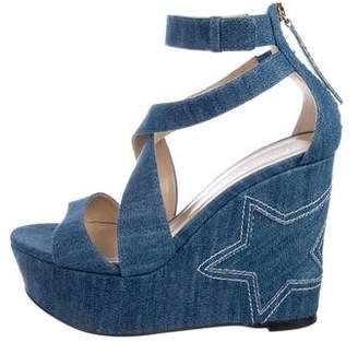 Tamara Mellon Denim Platform Sandals