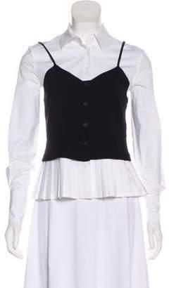 Yigal Azrouel Button-Up Long Sleeve Top