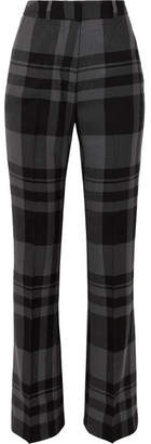 Markus Lupfer Kennedy Checked Wool Bootcut Pants - Gray