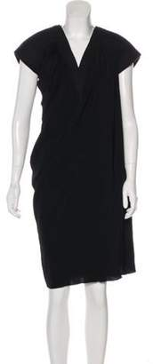 Bottega Veneta Short Sleeve Knee-Length Dress Black Short Sleeve Knee-Length Dress