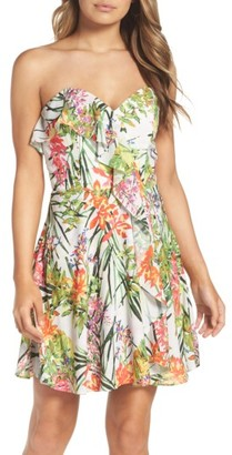 Women's Adelyn Rae Leanna Strapless Dress $118 thestylecure.com
