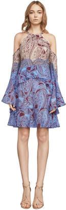 Bcbg Mariah Ruffle Halter Dress