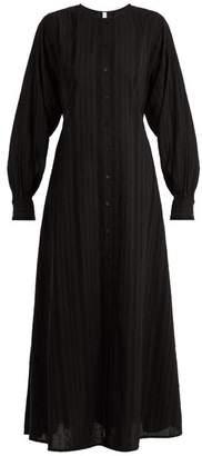 Merlette - Kir Round Neck Eyelet Lace Cotton Dress - Womens - Black