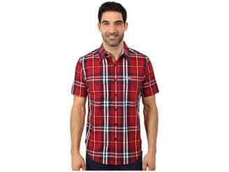 U.S. Polo Assn. Slim Fit Short Sleeve Plaid Sport Shirt Men's Clothing