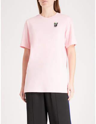 Mini Cream Logo-print cotton-jersey T-shirt