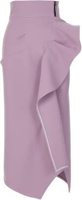 Maticevski Olimpus Ruffled Pencil Skirt