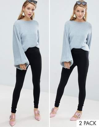 New Look 2 Pack High Waist Leggings
